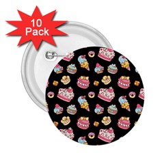 Sweet Pattern 2 25  Buttons (10 Pack)