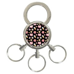Sweet Pattern 3 Ring Key Chains