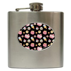 Sweet Pattern Hip Flask (6 Oz)