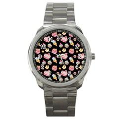 Sweet Pattern Sport Metal Watch