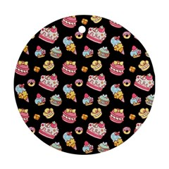 Sweet Pattern Round Ornament (two Sides)