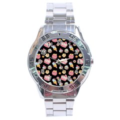 Sweet Pattern Stainless Steel Analogue Watch