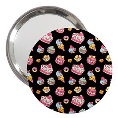 Sweet Pattern 3  Handbag Mirrors
