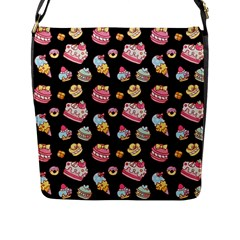 Sweet Pattern Flap Messenger Bag (l)