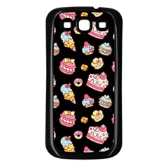 Sweet Pattern Samsung Galaxy S3 Back Case (black)