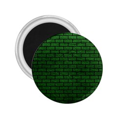 Brick1 Black Marble & Green Leather (r) 2 25  Magnets