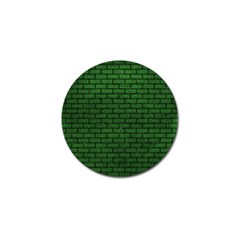 Brick1 Black Marble & Green Leather (r) Golf Ball Marker (10 Pack)