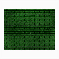 Brick1 Black Marble & Green Leather (r) Small Glasses Cloth