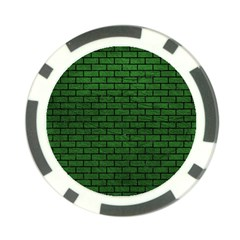 Brick1 Black Marble & Green Leather (r) Poker Chip Card Guard (10 Pack)