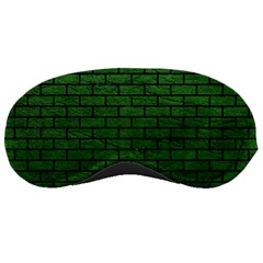 Brick1 Black Marble & Green Leather (r) Sleeping Masks