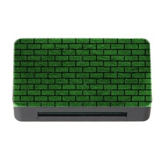 Brick1 Black Marble & Green Leather (r) Memory Card Reader With Cf