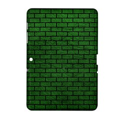 Brick1 Black Marble & Green Leather (r) Samsung Galaxy Tab 2 (10 1 ) P5100 Hardshell Case