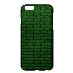 Brick1 Black Marble & Green Leather (r) Apple Iphone 6 Plus/6s Plus Hardshell Case
