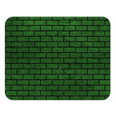 Brick1 Black Marble & Green Leather (r) Double Sided Flano Blanket (large)