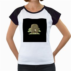 Cute Elephant Women s Cap Sleeve T