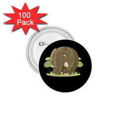 Cute Elephant 1 75  Buttons (100 Pack)