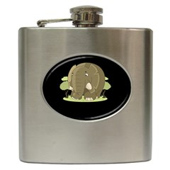 Cute Elephant Hip Flask (6 Oz)
