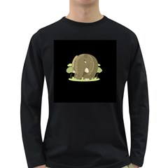 Cute Elephant Long Sleeve Dark T Shirts