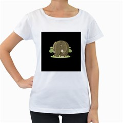 Cute Elephant Women s Loose Fit T Shirt (white)