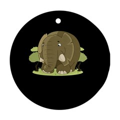 Cute Elephant Round Ornament (two Sides)