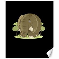 Cute Elephant Canvas 8  X 10