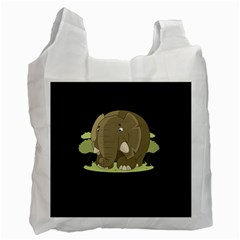 Cute Elephant Recycle Bag (two Side)