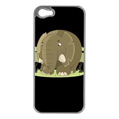 Cute Elephant Apple Iphone 5 Case (silver)