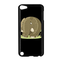 Cute Elephant Apple Ipod Touch 5 Case (black)