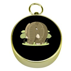 Cute Elephant Gold Compasses