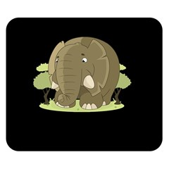 Cute Elephant Double Sided Flano Blanket (small)