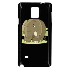 Cute Elephant Samsung Galaxy Note 4 Case (black)