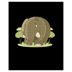 Cute Elephant Drawstring Bag (small)