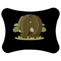 Cute Elephant Jigsaw Puzzle Photo Stand (bow)