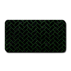 Brick2 Black Marble & Green Leather Medium Bar Mats