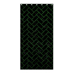Brick2 Black Marble & Green Leather Shower Curtain 36  X 72  (stall)