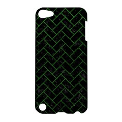 Brick2 Black Marble & Green Leather Apple Ipod Touch 5 Hardshell Case
