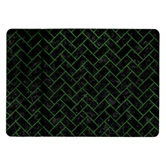 Brick2 Black Marble & Green Leather Samsung Galaxy Tab 10 1  P7500 Flip Case