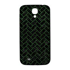 Brick2 Black Marble & Green Leather Samsung Galaxy S4 I9500/i9505  Hardshell Back Case