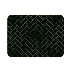 Brick2 Black Marble & Green Leather Double Sided Flano Blanket (mini)
