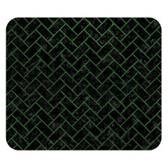 Brick2 Black Marble & Green Leather Double Sided Flano Blanket (small)