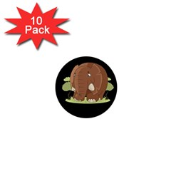 Cute Elephant 1  Mini Buttons (10 Pack)