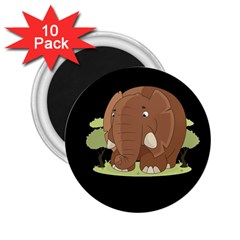 Cute Elephant 2 25  Magnets (10 Pack)