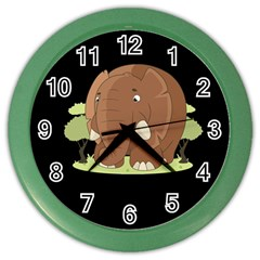 Cute Elephant Color Wall Clocks