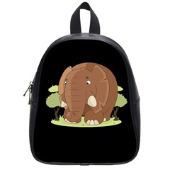 Cute Elephant School Bag (small)