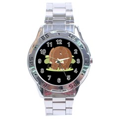 Cute Elephant Stainless Steel Analogue Watch