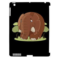 Cute Elephant Apple Ipad 3/4 Hardshell Case (compatible With Smart Cover)