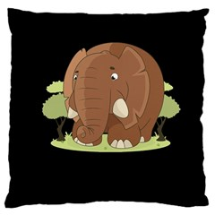 Cute Elephant Large Cushion Case (two Sides)