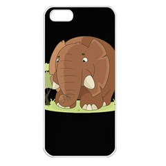 Cute Elephant Apple Iphone 5 Seamless Case (white)