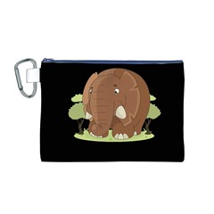 Cute Elephant Canvas Cosmetic Bag (m)