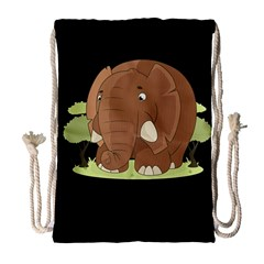 Cute Elephant Drawstring Bag (large)